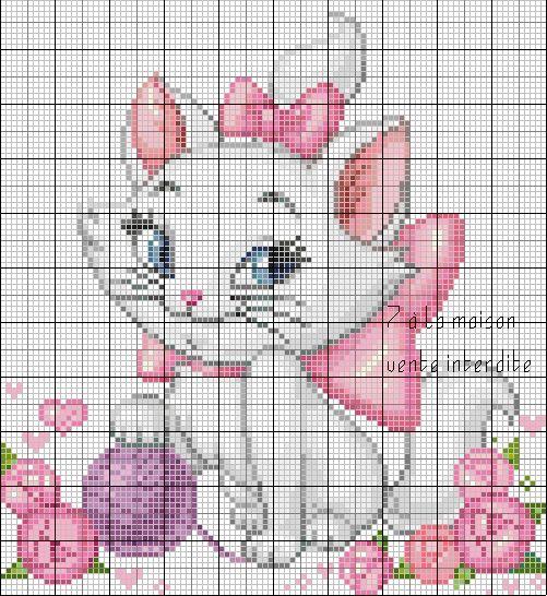 Free grid - the blog of 7th Heaven, cross stitch, knitting, free charts ...