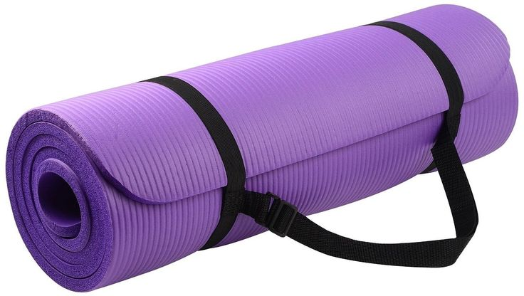 Yoga Mat. This Purple GoYoga All-purpose, Extra Thick, High Density, Anti-tear, Non-Slip, Portable Pad, Best For Outdoor and Indoor Exercise Accessorie. Light Weight and Easy Travel With Carrying Strap. * See this great image  : Pilates