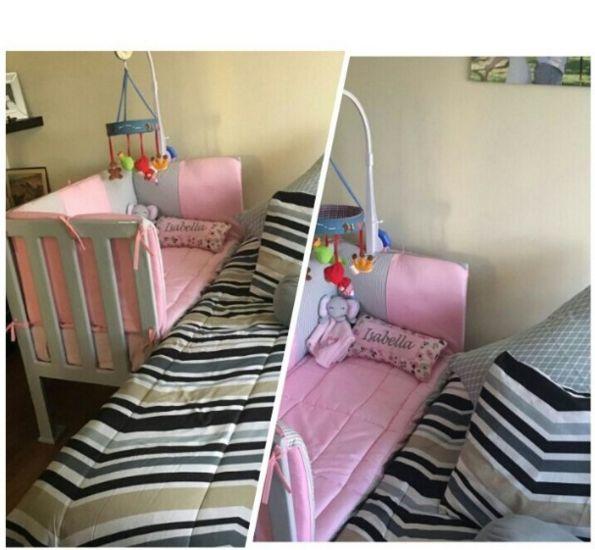 Fabricamos cunas colecho en cedro macizo a la altura de la cama de los padres .  Opción de color: blanco , gris, negro , madera claro , madera oscuro   Medidas 1.20 x 70 cm  Somos tienda virtual en Colombia. Pedidos whats 3118054529 - 3103489842