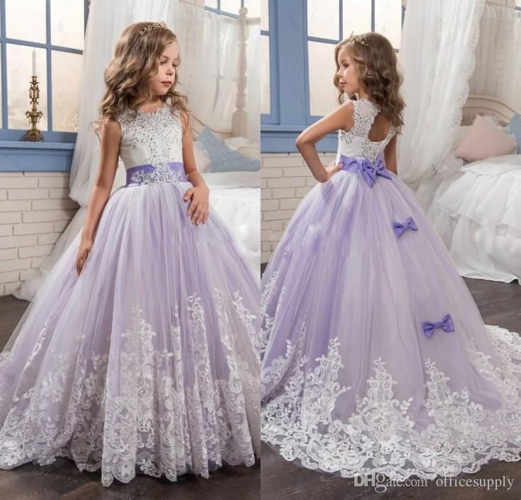 New Arrival 2017 Beautiful Lavender Flower Girls Dresses Beads Bow Lace Appliques Wedding Prom Birthday Communion Toddler Kids Tutu Dress Ivory Tulle Flower Girl Dress Junior Flower Girl Dresses From Officesupply, $86.96| Dhgate.Com