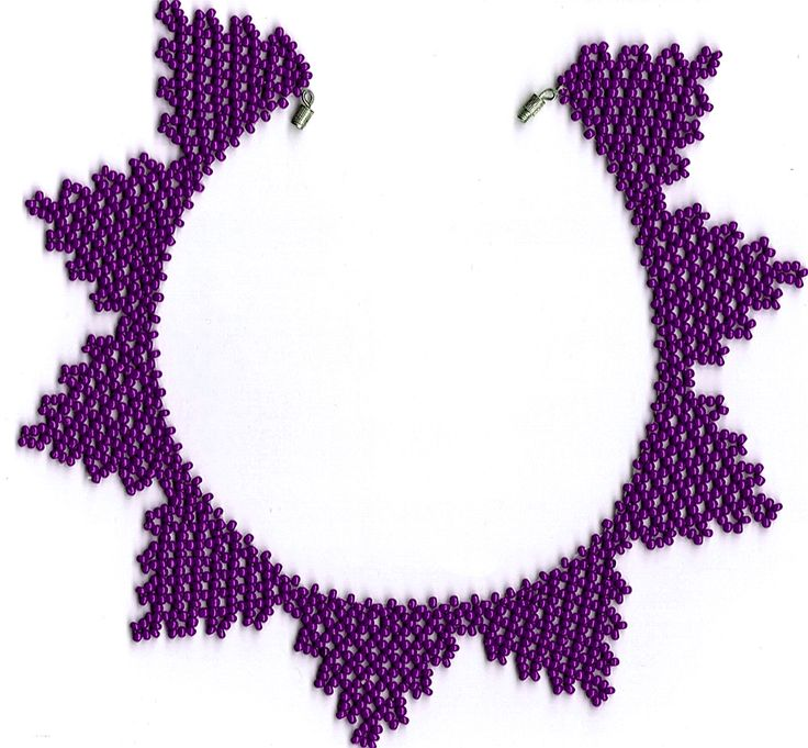 Free pattern for necklace Violetta