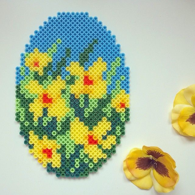 Easter egg hama perler beads by tamatek