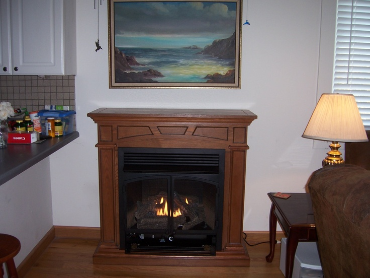 Montclaire Vent Free Gas Fireplace Mantel Package