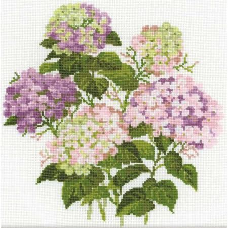 Garden Hydrangea Flower - Cross Stitch Kit