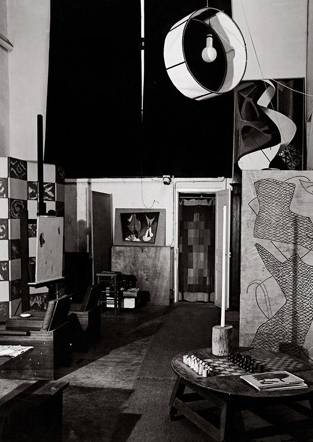 Interior of Man Ray's studio, Paris, France (unpublished) 1953-57 - Guy Bourdin