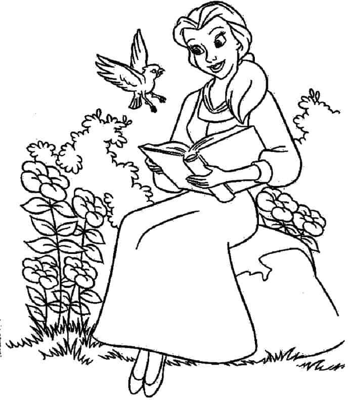 Coloring Pages Belle Belle Coloring Pages Disney Princess Coloring Pages Coloring Pages