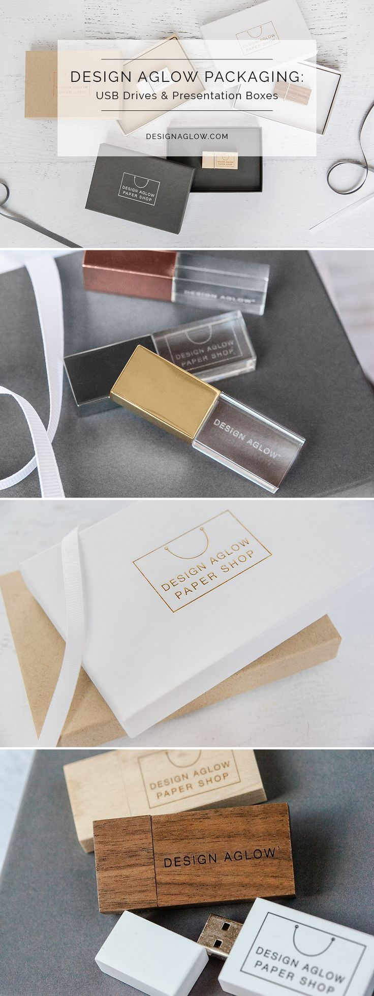 The perfect presentation for your most valuable product, these USB drives and boxes complete your brand experience with elegance and style.