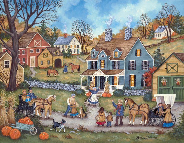 Thanksgiving Day Visitors - Bonnie White
