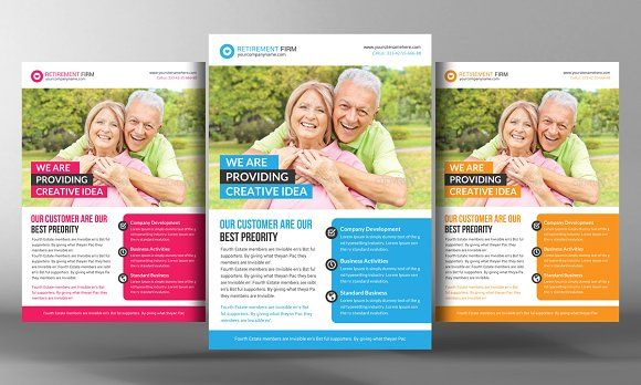 Retirement Investment Flyer by Business Templates on @creativemarket