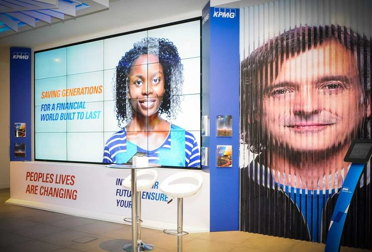 Video Walls and LED Displays - LED video walls create the perfect canvas on which to showcase content at exhibitions and conferences. #ExhibitionStand #TradeShow #Design #Marketing #Technology #VideoWall