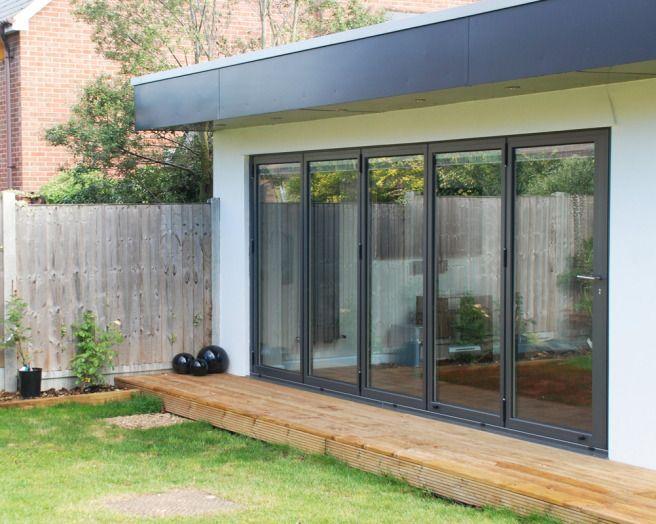 photo of sunfold garden with sliding doors sliding folding doors bi fold doors patio doors and decking