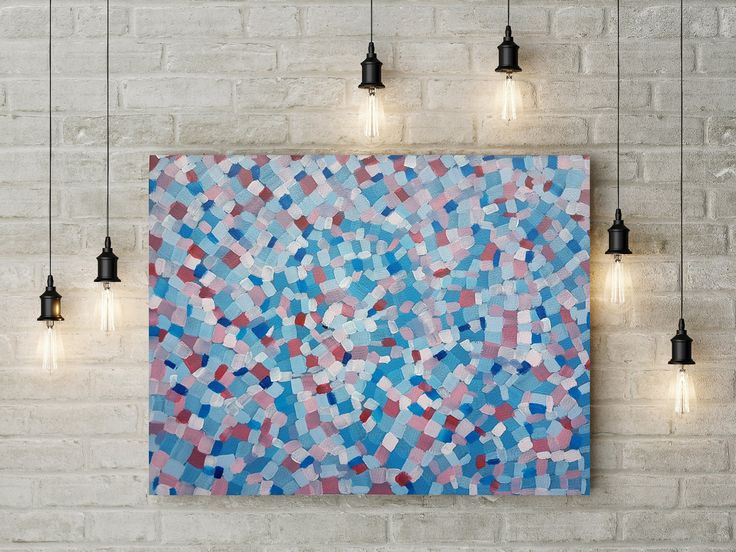 Colorful Original Abstract Painting Large Wall Art for Home Decoration Contemporary Art Acrylic Painting on Paper by DeniseArtStudio on Etsy