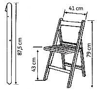 Resultado de imagen para medidas de una silla plegable de madera #ChairMadera