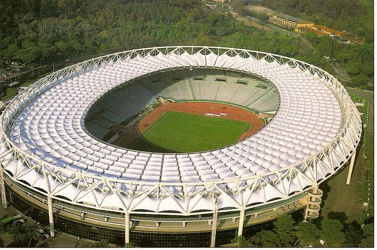 Football Stadium Stadio Olimpico in Rome, Italy. Home of AS Roma and Lazio Roma.