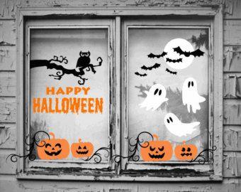 halloween window decorations halloween window decals halloween wall decals halloween wall decor - Halloween Window Decals
