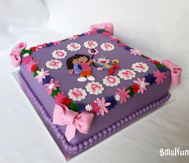 Dora taart   De leukste workshops en taarten vind je bij Smulfun.nl