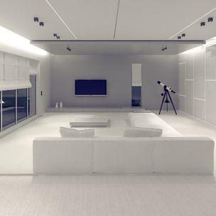 Residential Program • House in Brasov • Romania • Living area render