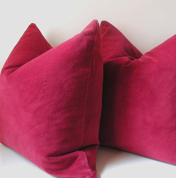 Raspberry Velvet Pillow Cover Throw Pillows Pillows