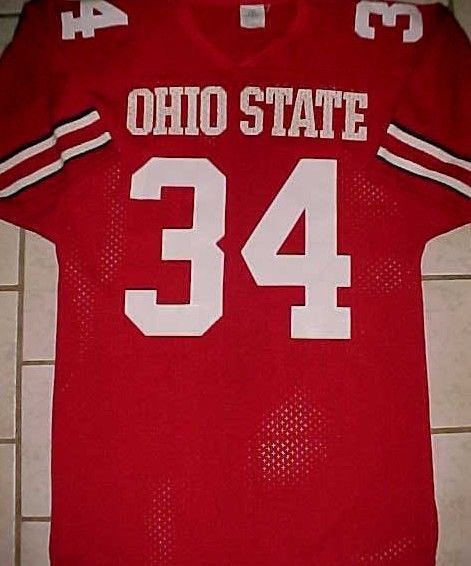 Ohio State Buckeyes 34 Ncaa Big Ten Sports Belle Red White Jersey M