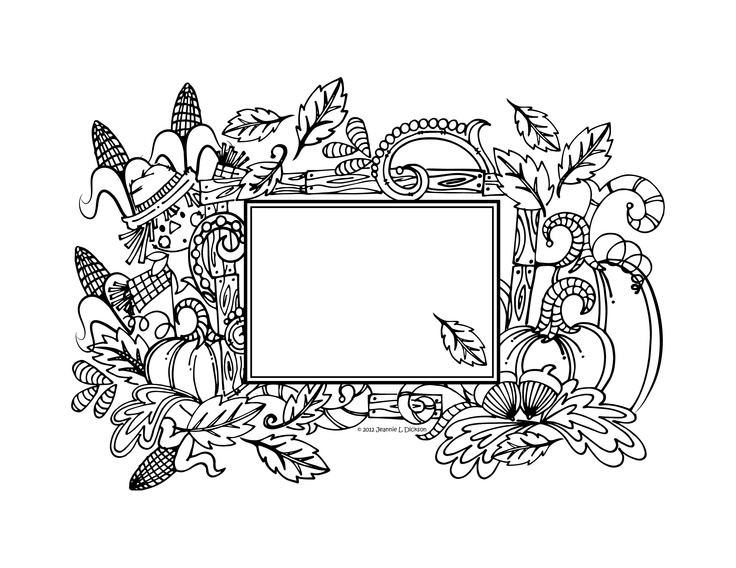 fall harvest pumpkin coloring page by honeybops
