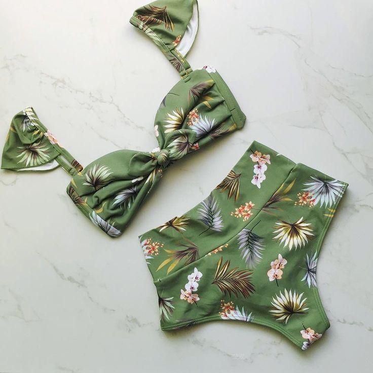 Leaf Swimsuit Push Up Bikini Set