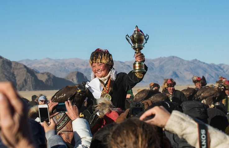 Talent knows no age: Here, 13-year-old Ashol-Pan celebrates a win at the festival.