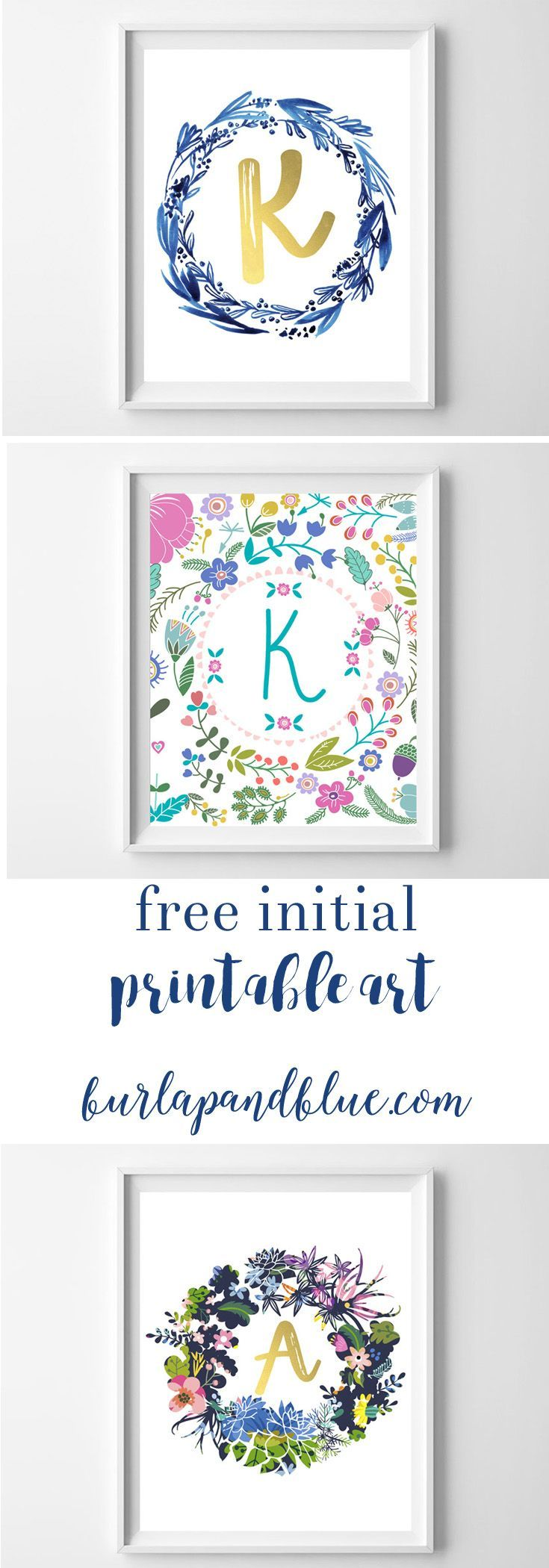 Love free printable art? Sharing over 10+ free initial printables. perfect for nurseries, kids rooms, gallery walls, home decor and gifts!