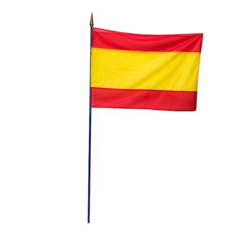 Drapeau espagnol sur mat 60 x 90 cm. Pour faire entrer le soleil lors de votre réception, installez le drapeau espagnol en guise de nappe ou de chemin de table rouge et jaune. Il ne vous reste plus qu'à aller préparer quelques tapas !