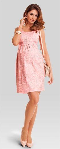 Nectarine coral вечернее платье для беременных