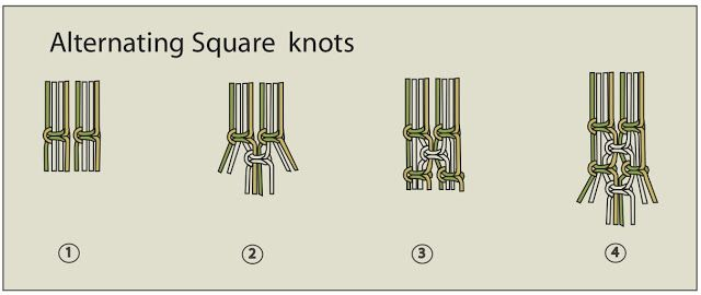 Ecocrafta: Alternating Square Knots