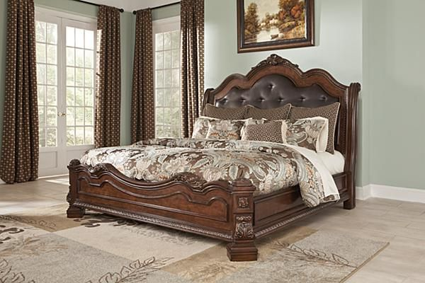 The Ledelle Sleigh Bed From Ashley Furniture HomeStore AFHScom With The Traditi American