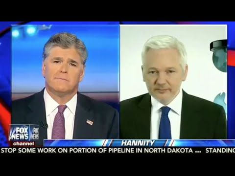 Julian Assange on Hannity: Clinton Is Lying About Not Recognizing Classified Markings - YouTube