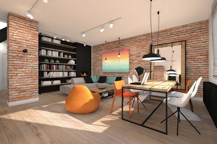 Best Home Interior Design Office Room Design ~ http://www.lookmyhomes.com/best-home-interior-design-ideas-15-photos-by-loft-in-katowice/