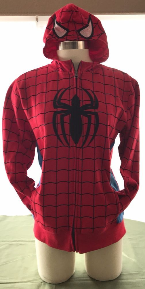 Spider-Man Full Zip Hoodie By Marvel Mad Engine Youth Size XL 16/18 New w/o tags #MadEngineMarvel #FullZipHoodie
