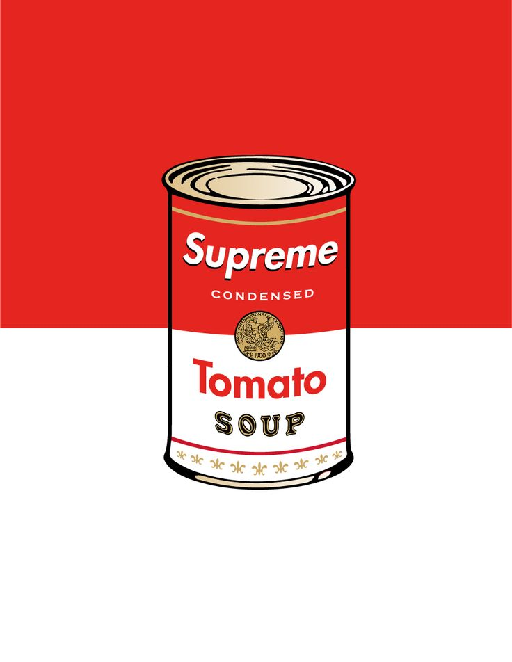 Andy Warhol's Can of Soup x Supreme Popart on Behance
