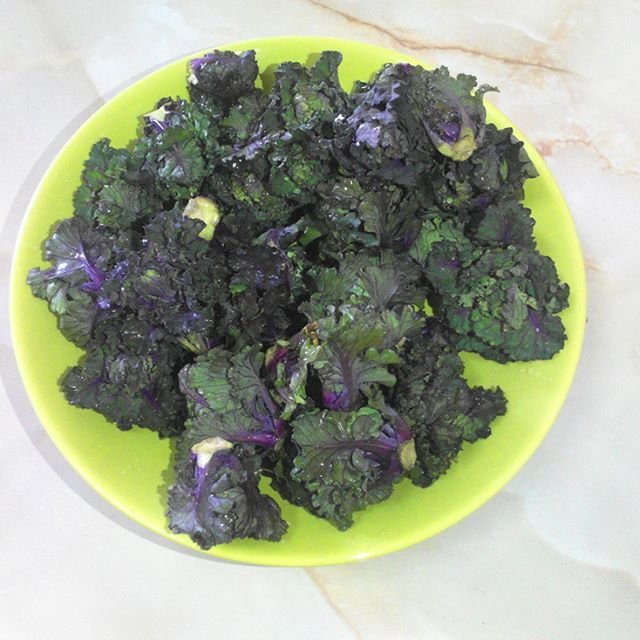 Kale cabbage snack.
