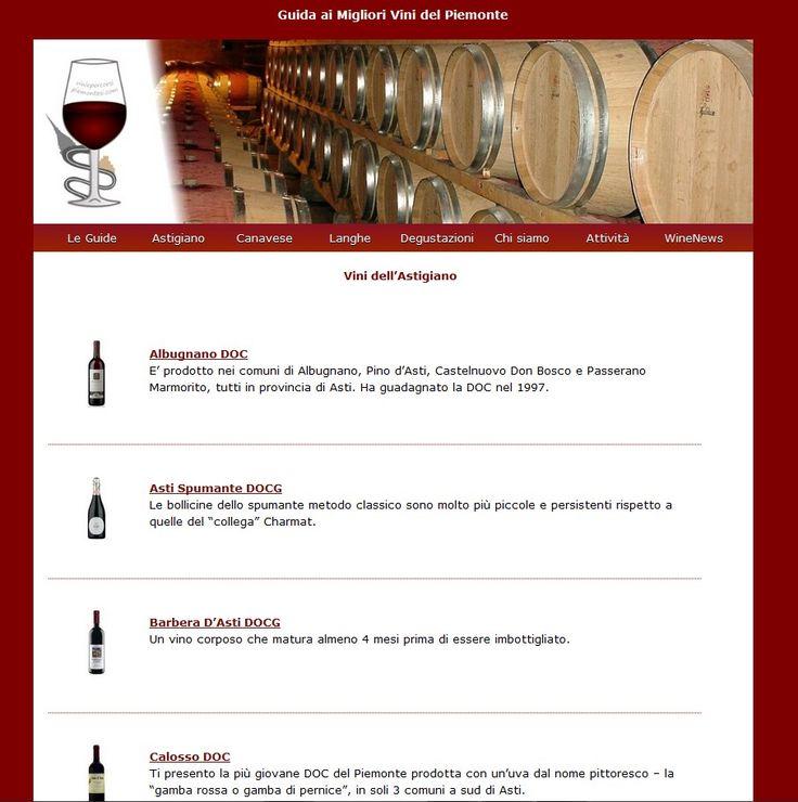 Vini del Piemonte. Guida alle DOC e alle DOCG piemontesi, news sul mondo del vino.