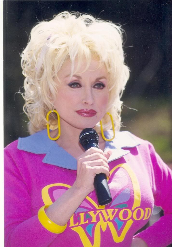 One of my favorite pictures of Dolly.  I have this shirt and have taken good care of it all these years.  .
