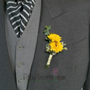 sunflower and baby's breath bouquet   Save on our Wedding Flowers in a Box!   FiftyFlowers - Wedding Flower ...