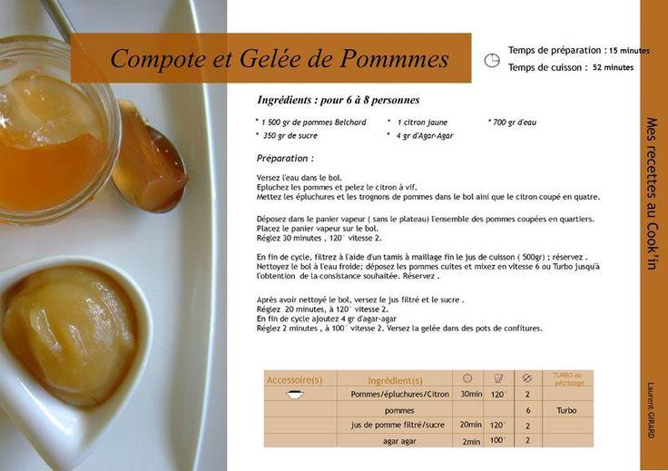 Recette au Cook'in : Compote et gelée de pommes