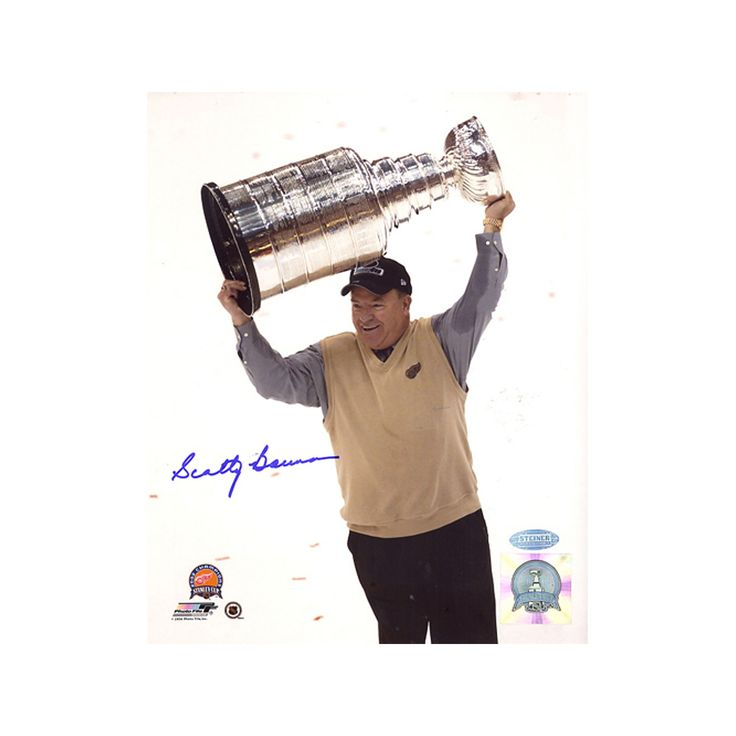 Steiner Sports Scotty Bowman with Stanley Cup Overhead 8'' x 10'' Signed Photo, Multicolor
