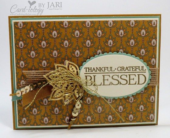 Fall - SU - Paisleys and Posies stamp set and the Paisley Framelits Dies Bundle by Jari Francis