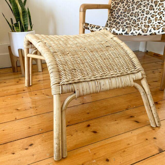 Vintage Rattan Ottoman Cane Footrest Wicker Armchairs Gumtree