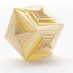 Sophisticated spiral cube for true origami fans.