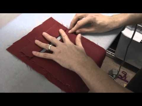 How to sew a welt pocket - YouTube