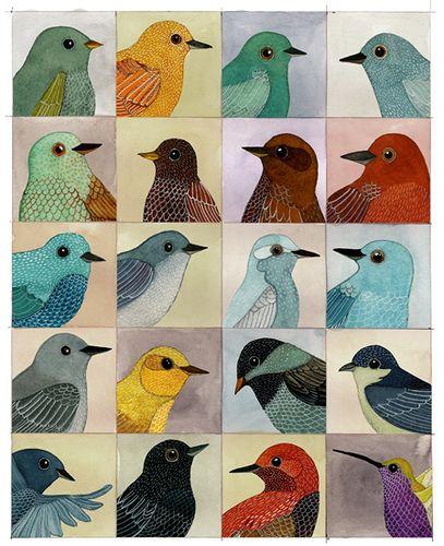 Bird art.  http://thingsmakemehappy.tumblr.com/post/8105363394