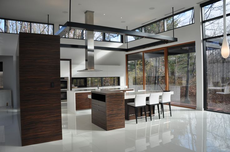 Contemporary kitchen with connection to the outdoors