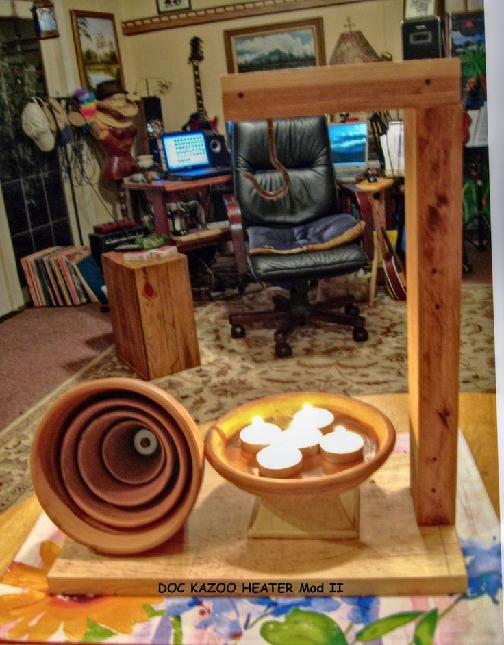 A few days ago I saw a video on making candle heaters and thought this would be a great idea for a small room off the workshop area appro...