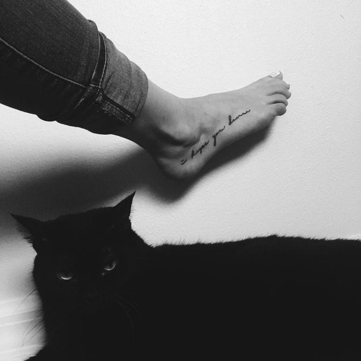 I Hope You Dance foot tattoo
