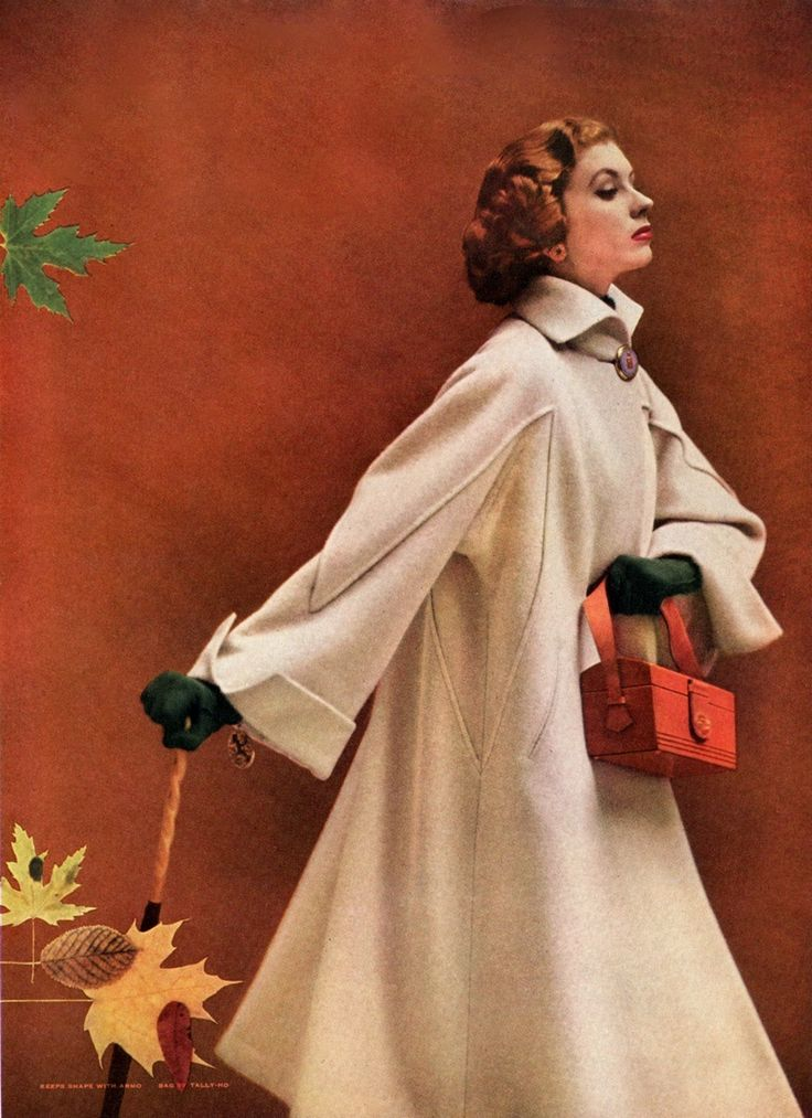 Swansdown - Suzy Parker 1952////// Ohhhhh.....that enveloping, comforting, authoritative coat......LOVE this.....